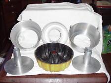 Vintage Comet Angel Food Cake Pan Lot With Cooling Legs Bundt Pan Made in U.S.A.