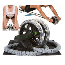 2pcs Double Wheels Ab Roller Pull Rope Waist Abdominal Slimming Equipment