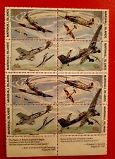 Marshall Islands 1990: WWII Battle of Britain 1940 Stamp Set Block of 8