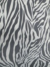Jersey Knit Fabric - Gray/White Zebra - 60w - 1.5yds