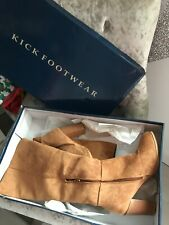 laidies boots size 6 tan suede