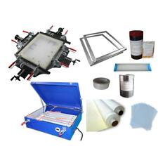 Screen Printing Plate Mkaing Machines Kit Manul Screen Stretcher & Exposure Unit