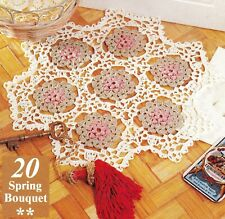 Pretty Spring Bouquet Doily/Crochet Pattern Instructions Only
