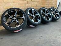 AUDI RS7 STYLE 21 INCH WHEELS AND TYRES NEW SET OF 4