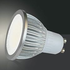 GU10 LED Leuchtmittel 5W aluminium warmweiß 450lm Strahler Birne Spot 230V 50Hz