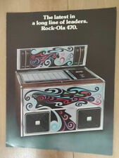 Rock-ola Rockola Model 470 Vinyl Jukebox Sales Brochure / Flyer / Pamphlet