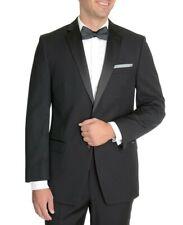 Mens Calvin Klein Solid Black Slim Fit 2 Button Formal Tuxedo Jacket Blazer