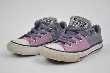 Girls CONVERSE ALL STAR Purple LILAC Lavender Sz 12 Chucks Junior 651749 Textile