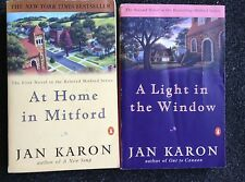 2 Jan Karon Books A Light in the Window At Home in Mitford Paperback Free Ship