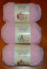 Bernat Baby Blanket Yarn Lot Of 3 Skeins (Baby Pink #03200) 3.5 oz. Skeins