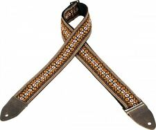 Levy's Guitar Strap BROWN Haight-Ashbury VINTAGE Woven Ace Hippie Levys M8HTV-20