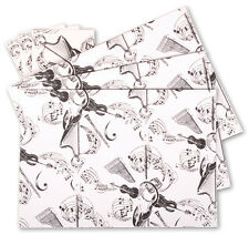 Instrument White Music Gift Wrap: 3 sheets & 3 tags