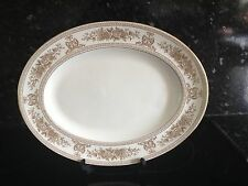 """WEDGWOOD GOLD COLUMBIA 13.5"""" OVAL SERVING PLATTER"""