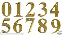 Door Numbers Brass Door Numerals In Polished Brass 1, 2, 3, 4, 5, 6, 7, 8, 9, 0