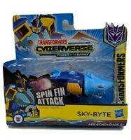 Transformers Cyberverse Power of the Spark Spin Fin Action Attackers Sky-Byte