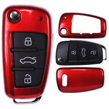 Klapp Schlüssel Cover Hülle Rot AUDI A1 8X S1 A3 8P S3 A6 4F S6 Q7