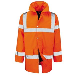 Hi Vis 3/4 Length Padded Work Jacket Water Proof Jacket Men's Coat