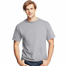 Hanes Mens Short Sleeve Tees Tops ComfortSoft Heavyweight T-shirt 5280 Light Steel Medium B00000584
