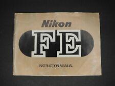 #1 Nikon FE 1979 Genuine SLR Camera Instruction Book / Manual / User Guide