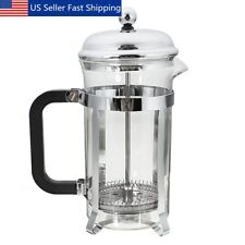 20OZ Stainless Steel Glass French Press Pot Filter Cafetiere Tea Coffee Maker US