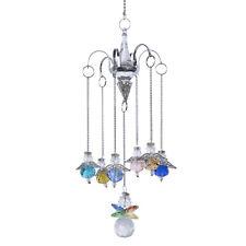 H&D Angel Crystal Suncatcher Prisms 7pcs Hanging Pendant Chandelier Lighting