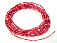 14 ga GAUGE GXL AUTOMOTIVE HIGH TEMP COPPER WIRE - 25 FT RED W/ WHITE STRIPE USA
