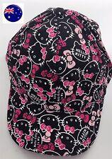 Women Lady Girl Black Hello Kitty Travel Sports Sun Hat Golf Baseball Cap