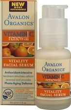 2 LOT OF Avalon Organics Intense Defense with Vitamin C Facial Serum 1 Oz Each