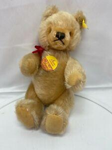 "Steiff Original 12"" Teddy Bear Brown Button Tag Jointed"