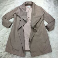 Club Monaco Women's XS Khaki Waterfall Front Trench Soft-shell Jacket