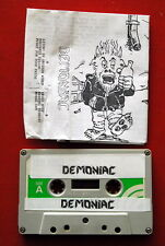 DEMONIAC DEMO ORIGINAL 1988 RARE EXYU CASSETTE TAPE HEAVY SPEED THRASH METAL