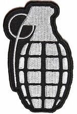 Grenade Grey Military Vet POW Motorcycle Embroidered Biker Vest Patch PAT-3831