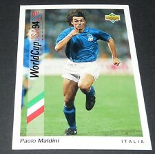 MALDINI MILAN AC ITALIA FOOTBALL CARD UPPER DECK USA 94 PANINI 1994 WM94