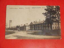 ZP650 Vintage 1911 RPPC Real Photo Street Scene Fort Sheridan Illinois IL