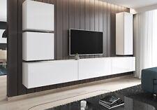 TV Lowboard hängend Möbel Schrank hängeboard Hochglanz weiß grau