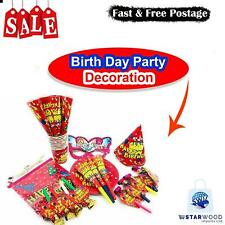 UNIQUE HAPPY BIRTHDAY SELF INFLATING BALLOON BANNER BUNTING PARTY DECORATION NEW