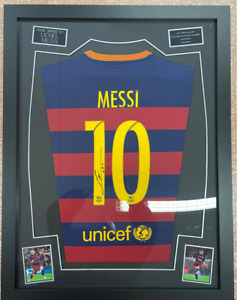 Lionel Messi Barcelona Signed Autographed Shirt with COA