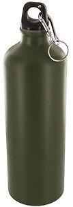 HIGHLANDER ALUMINIUM WATER BOTTLE – black or olive green camo metal - 500ml / 1L