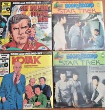 4 NEW Vinyl Record *(Peter Pan Records) STAR TREK, KOJAK, SIX MILLION DOLLAR MAN