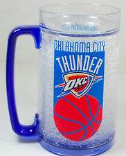 NEW! NBA OKC Oklahoma City Thunder Frozen Ice Mug 16 OZ Gift Fan Cup Beer Stein