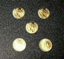 lot of 5 Mini Maximillion 1/2 Gram Gold Coins - Bullion Gold Coins