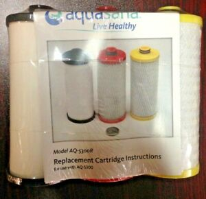 Aquasana AQ-5300R 3 Pack Replacement Water Filter Cartridges, (New Sealed )