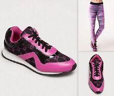 BEBE LOGO ATHLETIC SNEAKERS Pink Black  Tennis Shoes Women NEW F/S