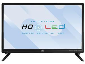 "Televisore TV LED 19"" HD Trevi LTV1904 SAT DVBT-T2 TivùSat 12 Volt Camper Camion"