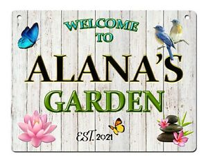 Personalised Garden Sign Shed  Summer House Spa Outdoor Metal Sign Plaque