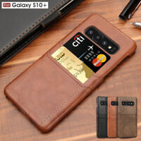 For Samsung Galaxy Note 10 S10 Plus S10 Leather Wallet Card Slot Slim Case Cover