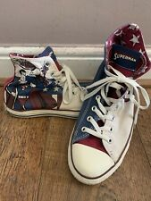 Converse All Star UK MENS Size 10 Superman DC COMICS Unisex LIMITED EDITION