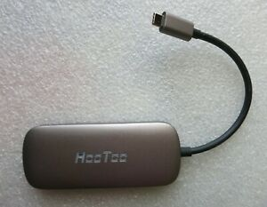 HooToo Hub USB-C Shuttle 3.1 Type C USB for charging Power Supply, HDMI. 6 IN 1