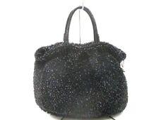 Auth ANTEPRIMA Wire Bag / New Standard Black Handbag w/ Shoulder Strap