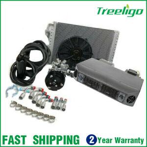 Universal Auto Air Conditioner System Under Dash Evaporator 12 V AC Compressor